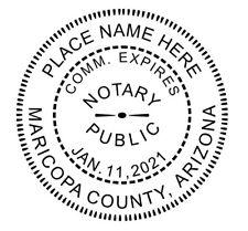 State of ARIZONA  | Custom Round Self-Inking Notary Public Stamp Ideal 400R
