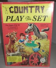 Vintage Tee Pee Toys Country Play Set Plus A Farm Winks Game Sealed Old Game Toy