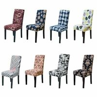 Stretch Fit Chair Covers Printing Slipcover Dining Room Wedding Banquet Party AU