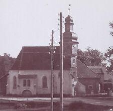 1900s SNAPSHOT PHOTO ORSLAN? GERMANY CHURCH VIEW BY RAILROAD TRACK