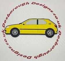 Peugeot 306 Gti 6 / S16 fridge magnets , Yellow