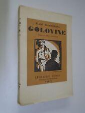 JAKOB WASSERMANN - GOLOVINE - LIB. STOCK - 1931