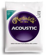 Martin M200 Silk & Steel Acoustic Guitar Strings 12-string set gauges 11.5-47