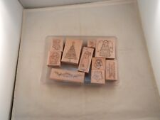 """Stampin' Up! """"New"""" Set Of 10 Stamps 2002 - Handstitched Holiday"""