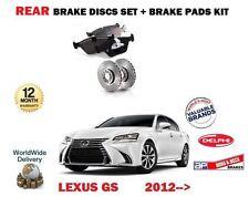 FOR LEXUS GS250 GS300H GS450H HYBRID 2012-> REAR BRAKE DISC SET + DISC PADS KIT