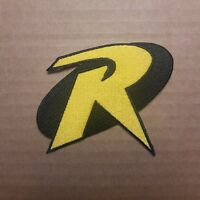 Robin Yellow R Logo Uniform Costume  Patch 3 1/2 inches wide