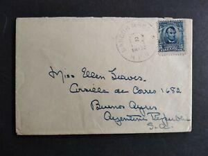 RPO: Bangor & Boston 1905 #305 Cover to Argentina, Maine & Mass. Railroad