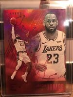 2019-20 Panini Chronicles Essentials Pink LeBron James Lakers SP Card FINALS 🔥