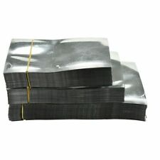 100X Silver Aluminum Foil Bags Heat Seal Mylar Food Storage Vacuum Pouches