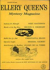 Ellery Queen's Mystery Magazine-01/58-Whit Masterson, Eberhart, Brand