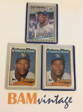 Gary Sheffield RC 1989 Topps Fleer Rookie 3 Baseball Card LOT Milwaukee Brewers