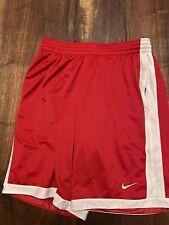 nike dri fit shorts large red white basketball