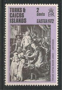 Turks & Caicos Islands #250 VF MNH - 1972 2c Christ Before Pilate - Rembrandt