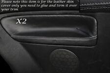 GREY STITCH 2X REAR DOOR CARD SKIN COVERS FITS VW GOLF MK4 IV JETTA 98-05 3DR