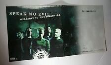 LOT 2 PC BUT CONNECTED SPEAK NO EVIL DOWNSIDE FLAT DBL SIDED 12x24 MUSIC POSTER