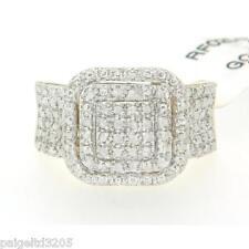 Gold over Brass 0.25 CCTW Genuine Diamond Princess Ring Size 7