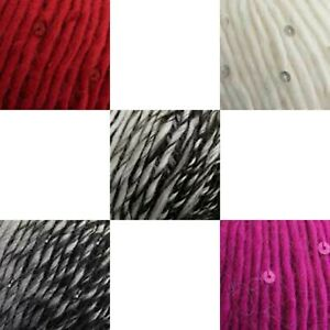 CLEARANCE King Cole Galaxy Chunky Sequin Yarn 50g Balls - Choice of colours
