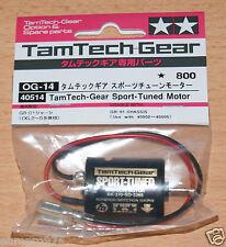TAMIYA 40514 Tamtech-GEAR SPORT-TUNED MOTOR (GB01/GB02/GB03/GT01), Nuovo con imballo