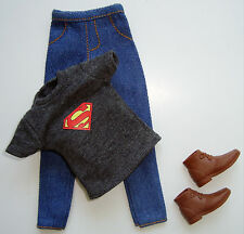 Barbie/KEN Doll Clothes/Fashions Grey Tee Shirt/Jeans/Ankle Boots NEW!