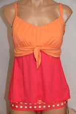 NWT Coco Reef Swimsuit Bikini Tankini 2pc set Sz XL 40DD Perfect Fit Fold Over