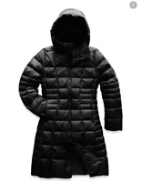 NEW The North Face 'Metropolis II' Hooded Down Parka in Black - size L #C1072