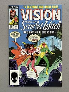 VISION and the SCARLET WITCH #4 (1985) NM/M 9.8 Beautiful Mint Copy!!