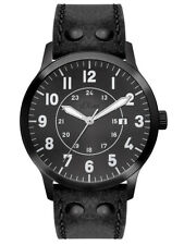 S.Oliver Men's Watch so-2976-lq Analogue Leather Black