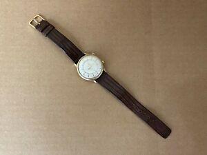 JAEGER LECOULTRE 10K Gold Filled Memovox 35mm Wrist Alarm Watch Runs