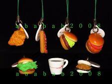 Bandai Mos Burger Miniature strap figure gashapon (full set of 7 strap figures)