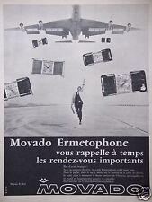 PUBLICITÉ 1968 MONTRES MOVADO ERMETOPHONE SONNERIE DISCRÈTE - ADVERTISING