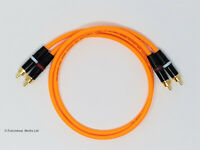 RCA Phono Gold Plated Hi Fi Interconnect Van Damme Cable 0.5 M Orange