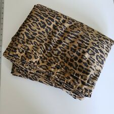 RALPH LAUREN Vintage Aragon Leopard Queen Flat Sheet - with Defects See Pictures