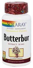 Solaray, Butterbur, Extract, 50 mg, 60 Vegeterian Caps