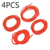 4pcs Petrol Fuel Gas Pipe Hose Lines Fittings For Trimmers Chainsaw Leaf Blower