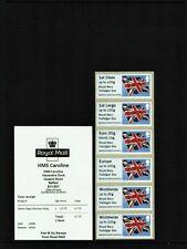HMS CAROLINE ROYAL NAVY Trafalgar Day FLAG COLLECTOR STRIP B9GB16 A008 Post Go