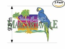Margaritaville Jimmy Buffetts 2 Stickers 9.5 inches Sticker Decal