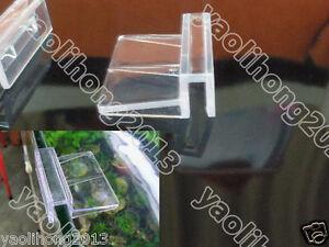 4 Pcs New Aquarium Tank Glass Cover Plastic Clip 6MM Support Holders x