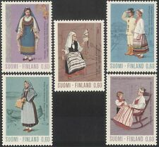 Finland 1972 Traditional Costumes/Clothes/Textiles/Design/People 5v set (s333q)