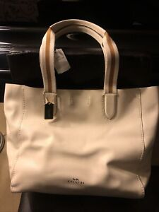 NWT Coach Derby Tote, F59399, leather, White - org $350