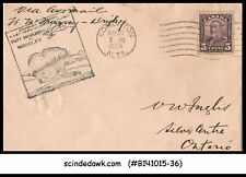 CANADA - 1929 CANADA AIR MAIL FORT McMURRAY to WRIGLEY - FFC