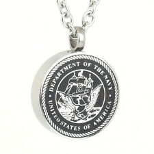 US Navy Veteran Cremation American Patriotic Ashes Necklace Urn Jewelry Keepsake
