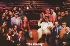 "The Meeting Poster  Goodfellas, Godfather, Sopranos, Scarface 36"" x 24""  #51062"