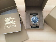 Burberry The Utilitarian Swiss BU7839 Stainless Chronograph Mens Watch 42MM