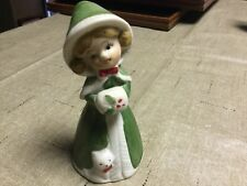 Jasco 1978 Decorative Bell Little Girl With Cat
