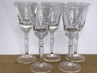 Crystal Sherry Cordial Glasses Set Of 5