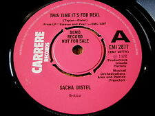 """SACHA DISTEL - THIS TIME IT'S FOR REAL / PLAY IT GOOD    7"""" VINYL DEMO"""