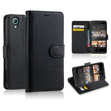 BLACK Premium New Wallet Leather Phone Case Cover For HTC Desire 626