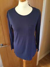 Ladies M&S Collection Long Sleeve Top, T Shirt, Indigo U.K. 10 BNWTS 6959/61