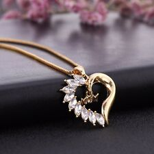 Fashion Crystal I Love You Mom Heart Pendant Gift for Mom Mother-in-law Necklace