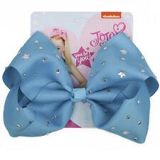 "8"" JOJO SIWA BIG Star Diamond hair bows with Alligator clip girls kids bowknot"